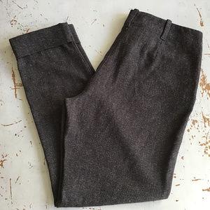 J. JILL Dark Brown Tweed Knit Dress Pants